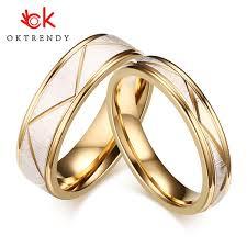 2019 <b>OKtrendy Wedding</b> Rings For Love Matte Finish Stainless ...