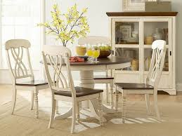 Distressed White Kitchen Table Dining Room Antique White Dining Room Table With Wooden Pedestal