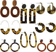 Udekit Fashion Vintage Acrylic Earrings Set with ... - Amazon.com