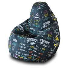 <b>Кресло</b>-<b>мешок груша Пазитифчик</b> Айскрим 130х85 см — купить в ...
