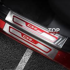 Защитные <b>накладки</b> на <b>пороги</b> на Mazda CX-5 2 поколение