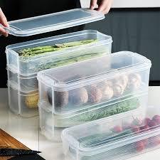 <b>Rectangle Storage Bins Refrigerator</b> Box Food <b>Storage Containers</b> ...