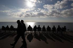 sick of work email overload french fight to protect private life people look at the mediterranean sea in the french riviera city of nice southeastern