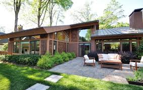 century modern home patio this unique modern home is built on a large  acre lot in the beautiful