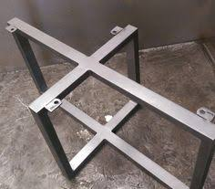 metal dining table base legs bennysbrackets: metal table base by steelimpression on etsy idea for batonga door coffee table legs