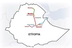 Image result for ethiopian railways map