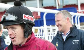 The jockey / trainer combination of Jason Maguire, left, and Donald McCain can score at Carlisle with King's Grace, Ifyousayso and Vinstar. - Jason-Maguire-and-Donald--008