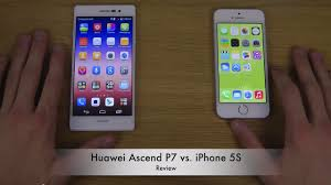 Huawei Ascend P7 vs. iPhone 5S - YouTube