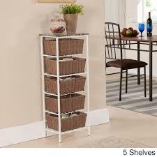 wicker tiered shelf