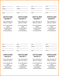 examples of raffle tickets ticket template receipt templates it