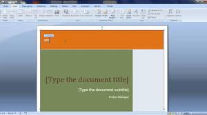 create a cover page in ms word hindi create a cover page in ms word hindi
