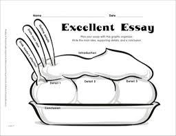 Writing Graphic Organizer  Excellent Essay Scholastic Printables