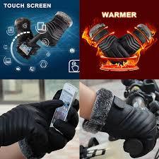 <b>Теплые</b> зимние <b>перчатки</b> утолщенной пу <b>сенсорный</b> экран ...