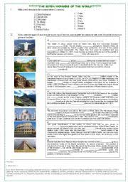 essay on seven wonders of the world  wwwgxartorg wonders of the world essay in english essay topicsenglish worksheets the seven wonders of world