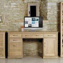 mobel oak twin pedestal computer desk 1 baumhaus aston oak hidden