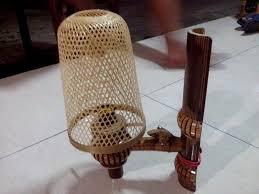 Kerajinan lampu tidur dari bambu