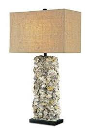 custom table lamp sea shells beach all natural oyster shell lamp love this from currey amp co and www