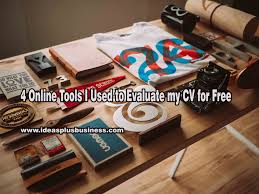 online tools i used to evaluate my cv for