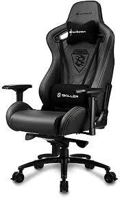Sharkoon SGS5 Gaming <b>Chair Real Leather Black</b> One Size ...