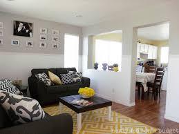 blue grey living room model