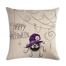 <b>Halloween Cartoon</b> Owl Printed Pillow <b>Case</b> Cotton Linen ...