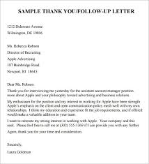 thank you letter after interview template follow up letter sample follow up letter interview follow up letter sample template