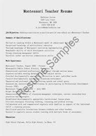 montessori teachers resume      montessori teacher resume sample source