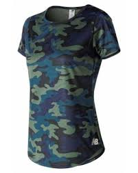 New Balance Women's <b>Printed Accelerate Short Sleeve</b> v2 Green