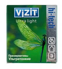 <b>Визит Хай-Тех Ультра Лайт</b> презервативы №3 ультра тонкие ...