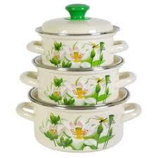 «<b>Набор эмалированной посуды</b> из <b>3</b> предметов Лотос-1 - КМК ...