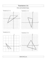 1000+ images about Transformation : translation, réflexion, etc ...The Translation of 3 Vertices up to 3 Units (A) math worksheet from the Geometry Worksheet page at