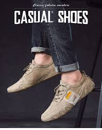 Plus Size Suede Leather <b>Shoes Men</b> Loafers Octopus Casual ...