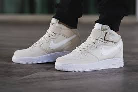 nike air force 1 mid 07 light bonewhite af1 white