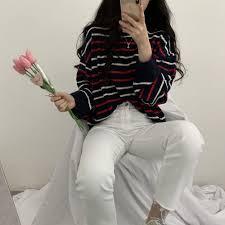2019 <b>Milinsus Women</b> Sweater 2019 <b>Striped</b> Pull Jumpers Casual ...