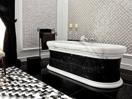 bathrooms with black & white decor - Google Search  Marble Tile ...