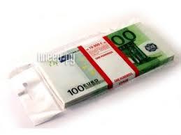 Купить <b>Эврика</b> Забавная <b>Пачка 100</b> евро 90108 по низкой цене в ...