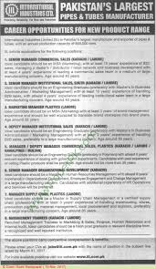 international industries limited lahore karachi jobs on  international industries limited lahore karachi jobs