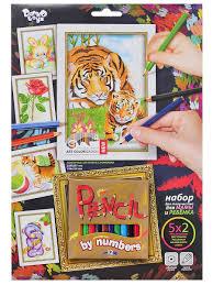 Набор для творчества <b>раскраска</b> карандашами по номерам ...