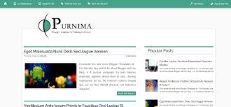 purnima blogger template purnima blogger template by making different