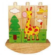 <b>Деревянная игрушка QiQu Wooden</b> Toy Factory Забавные кубики ...