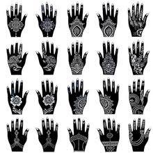 20 шт., <b>набор трафаретов для</b> татуировок хны для женщин ...