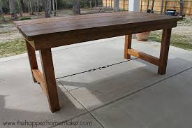 pottery barn style dining table: diy pottery barn inspired dining table