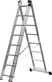 Универсальная <b>трехсекционная лестница</b> со стабилизатором ...