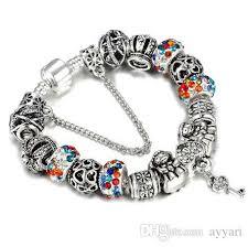 <b>HOMOD</b> Authentic Silver Plated 925 Crown <b>Beads</b> Key Crystal Heart ...