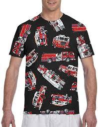Amazon.co.jp: Fire Truck <b>Men's</b> T-<b>Shirt</b>, <b>Short Sleeve</b>, <b>Creative</b> ...