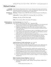 senior system administrator resume template eager world it