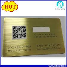 China <b>New Arrival</b> Qr Code <b>Black Metal</b> Business Card - China ...