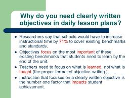 Writing Behavioral Objectives   YouTube Imhoff Custom Services    Lesson plans include clear goals written in the form of student learning outcomes