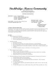 dentist resume examples assistant cover letter examples dental assistant