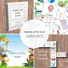 beginning letter sound super pack one beautiful home beginning letter sound template for